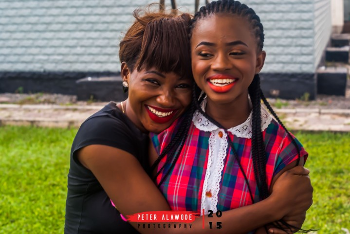Peter Alawode Photography - The two Nike's share a passionate smile. Left is the Make up artist who made her stunning